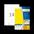 5058 etiket herma superprint 5058 105x42.3mm 280st geel