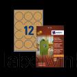 L7106-20 etiket avery l7106-20 60mm bruin 240st