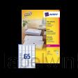 L7651-100 etiket avery l7651-100 38.1x21.2mm 6500st