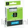 Dymo 45810 D1 Tape 19mm x 7m wit op transparant