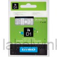 Dymo 53720 D1 Tape 24mm x 7m wit op transparant - NIET MEER LEVERBAAR