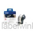 DK-22211 Doorlopende duurzame film 29mm x 15,24m - wit - zelfklevend