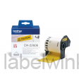 DK-22606 Doorlopende duurzame film 62mm x 15,24m - geel - zelfklevend