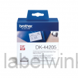 DK-44205 Doorlopende papier tape 62mm x 30,48m - wit - verwijderbaar
