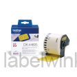DK-44605 Doorlopend papier tape 62mm x 30,48 - geel - verwijderbaarDK-44605 Doorlopend papier tape 62mm x 30,48 - geel - verwijderbaar