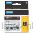 Dymo RHINO 1805424 vinyl wit op bruin 24mm