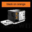 DYMO 1868768 XTL universele vinyl tape 24mm zwart op oranje