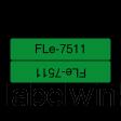 Brother FLe-7511 kabelvlag zwart op groen