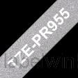 Brother TZe-PR955 Wit op Premium Zilver 24mm