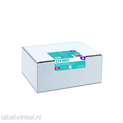 Dymo 2093092 6-pack LW etiket 54x101mm wit papier