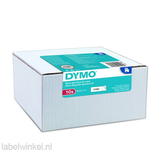 Dymo 2093098 Value Pack 10x S0720830 D1 zwart op wit 19mm