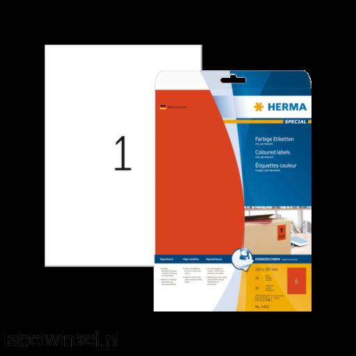 4422 etiket herma superprint 4422 a4 rood 20st