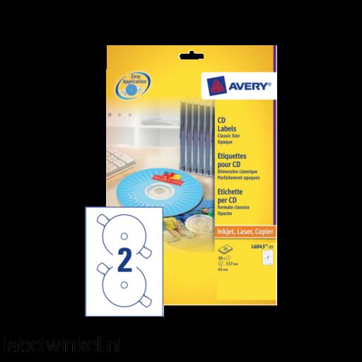 L6043-100 etiket avery zweck cd l6043-100 200st