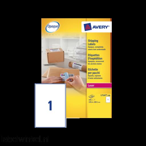 L7167-100 etiket avery l7167-100 199.6x289.1mm 100st