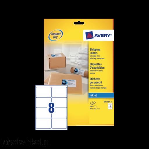 J8165-25 etiket avery j8165-25 99.1x67.7mm 200st