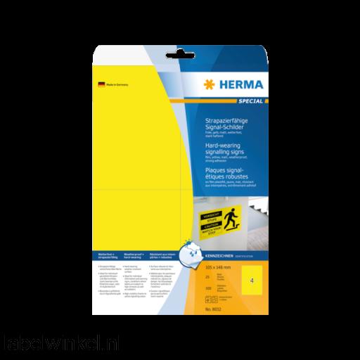 8032 etiket herma 8032 105x148mm 100st geel