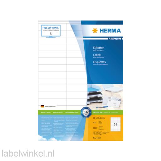 4459 etiket herma 4459 70x16.9mm premium a4 5100st