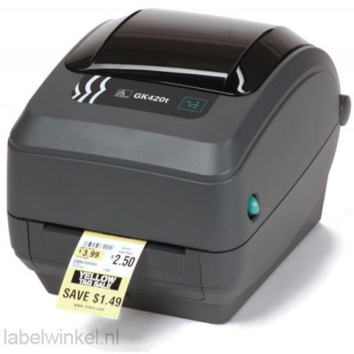 Zebra GK420T desktop labelprinter met USB en Ethernet aansluiting