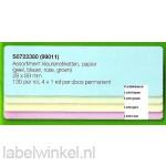 Dymo 99011 Gele, roze, blauwe, groene etiketten