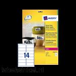L7063-20 etiket avery l7063 99.1x38.1mm 280st wit