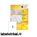 DP001-100 etiket avery dp001-100 210x297mm 100st