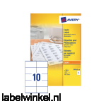 DP010-100 etiket avery dp010-100 105x58mm 1000st