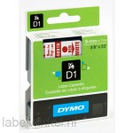 Dymo 40915 D1 Tape 9mm x 7m rood op wit