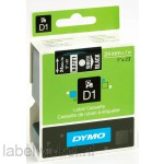 Dymo 53721 D1 Tape 24mm x 7m wit op zwart