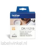 DK-11219 12 mm Ø rond etiket - wit
