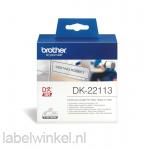 DK-22113 Doorlopende plastic tape 62mm x 15,24m - transparant - zelfklevend