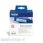 DK-22223 Doorlopende papier tape: 50 mm x 30,48m - wit - zelfklevend