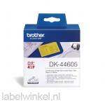 DK-44605 Doorlopend papier tape 62mm x 30,48 - geel - verwijderbaar