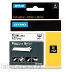 Dymo RHINO 18488 flexibele nylontape zwart op wit 12mm