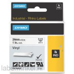 Dymo RHINO 1805430 vinyl zwart op wit 24mm