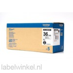 HGe-261v5 36mm zwart op witte tape gelamineerd high grade