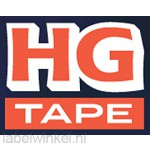 HGe-231v5 - 12mm x 8m zwart op witte tape gelamineerd high grade