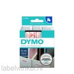 Dymo 45015 D1 Tape 12mm x 7m rood op wit