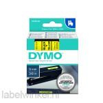 Dymo 40918 D1 Tape 9mm x 7m zwart op geel