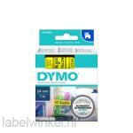 Dymo 53718 D1 Tape 24mm x 7m zwart op geel