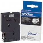 Brother TC-B01 Tape Zwart op oranje, 12mm, fluorescerend