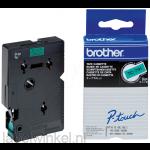 Brother TC-791 Tape Zwart op groen, 9mm