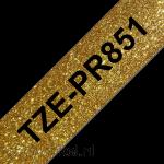 Brother TZe-PR851 Zwart op Premium Goud 24mm