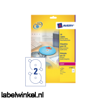 L7760-25 etiket avery cd l7760-25 laser hoogglans 50st
