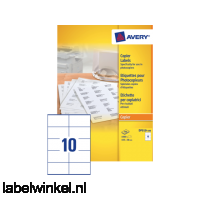 DP010-100 etiket avery dp010-100 105x58mm 1000st