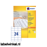 DP247-100 etiket avery dp247-100 70x37mm 2400st