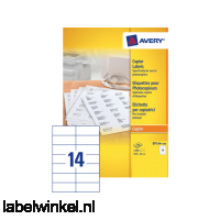 DP144-100 etiket avery dp144-100 105x42mm 1400st