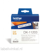 DK-11203 Map label 17 mm x 87 mm - wit