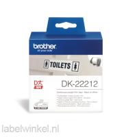 DK-22212 Doorlopende duurzame film, 62 mm x 15,24 m - wit - zelfklevend