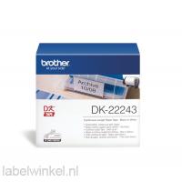 DK-22243 Doorlopend papier tape 102 mm x 30,48m - wit - zelfklevend