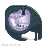 Dymo LetraTag tape 12267 Clear Black